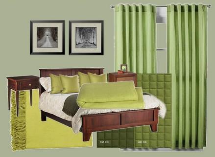Hálószoba színek: Zöld