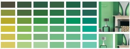 Zöld színskála